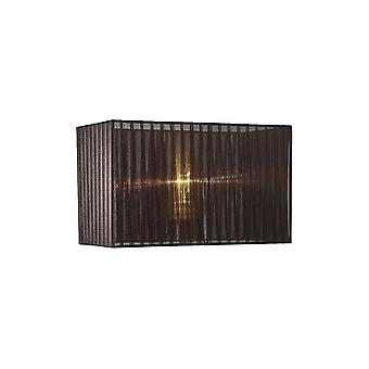 Rectangle Organza Shade, 380x190x230mm, Black, For Table Lamp