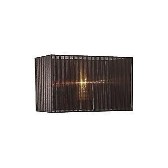 Rectángulo Organza Sombra, 380x190x230mm, Negro, Para Lámpara de Mesa