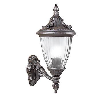 Forlight Adur - 1 Light Outdoor Wall Lantern Rusty brown