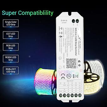 Wl5 2.4g 15a 5 In 1 Wifi Led Controller For Single Color, Cct, Rgb, Rgbw,