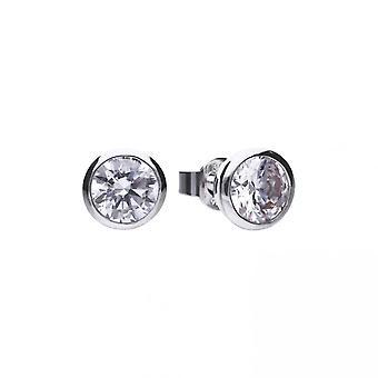 Boucles d'oreilles Diamonfire Silver White Zirconia Solitaire E5620
