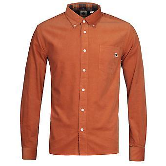 Pretty Green Classic Fit Orange Corduroy Shirt