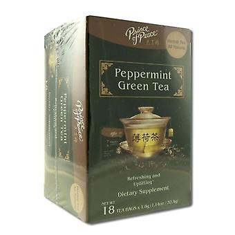 Prince Of Peace Peppermint Green Tea, 18 Bags