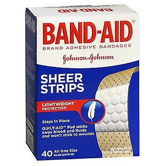Band-Aid Comfort-Flex Adhesive Bandages Sheer Extra Large, 40 each