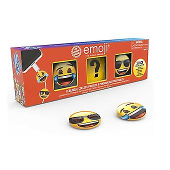 Tobar K-bling Collectable Cable Protector Collection 3 Pieces Pack, Emojis