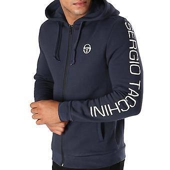 Sergio Tacchini Mens Lamar Full Zip Hooded Sweater Sweatshirt Jacket - Navy