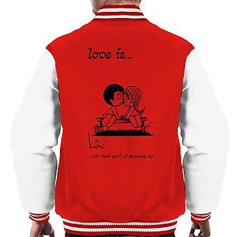 Kærlighed er den bedste del af at gøre op Men's Varsity Jacket