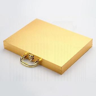 24pcs gull servise sett 18/10 rustfritt stål servise sett med knifek