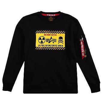 Alpha Industries Herren Sweatshirt Radioactive