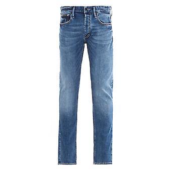 Denham Razor Denim Washed Blue Slim Fit Jeans