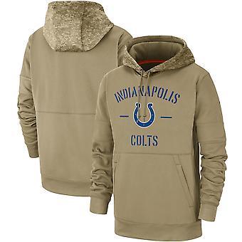 Men's Indianapolis Colts Slant Strike Tri-Blend Raglan Pullover Hoodie Top WYG053