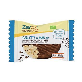 Milk chocolate coated corn cakes 32 g