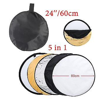 Reflector Collapsible Light Round Photography White Silivery For Studio Multi