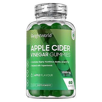 Apple Cider Vinegar Gummies - 1000mg 60 Gummies