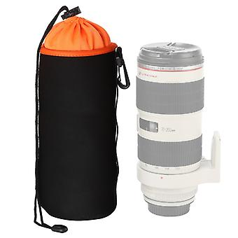 SLR Camera Lens Bag Micro Single Lens Bag Lens Binnenste bile bag waterdichte beschermhoes plus fluwelen verdikking, diameter: 10cm, hoogte: 25cm (oranje)