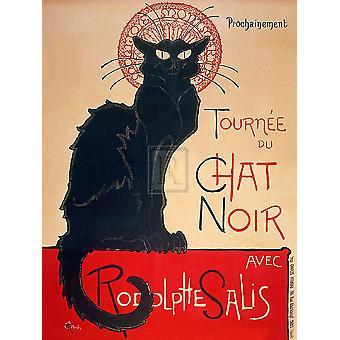 Le Chat Noir Juliste Tulosta, jonka Theophile Steinlen (30 x 40)