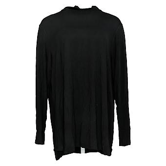 Cuddl Duds Women's Top Softwear Stretch Long Slv Mock Neck Black A368209