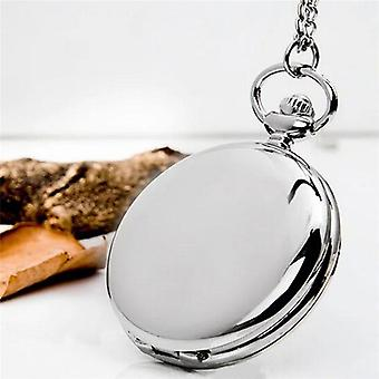 Fob Watches Retro Classical Polish Quartz Watch Pendant Chain Smooth