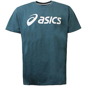 Asics Mens T-Shirt Sports Logo Tee Training Top Sarcelle 132709 4135