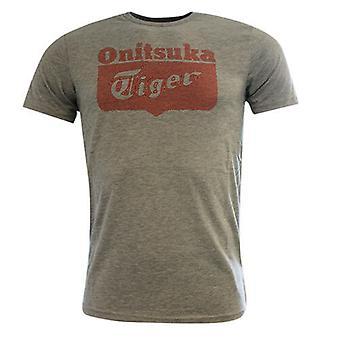 Onitsuka Tiger Casual Mens Short Sleeve Grey Tee T-Shirt Top 122720 0540 RW26