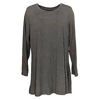 H by Halston Women's Plus Top Essentials Scoopneck Knit Brown A280700