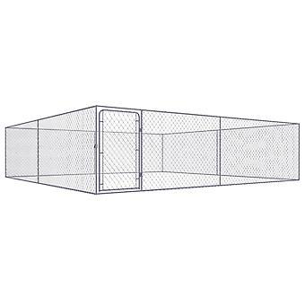 Outdoor dog kennel Galvanized steel 4 x 4 x 1 m