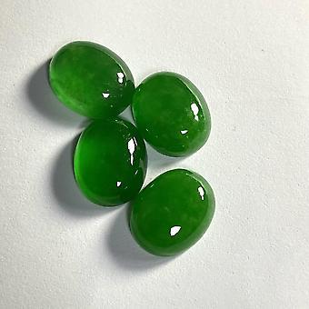 Natural  Burma Jadeite Treatment Oval  Stones