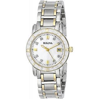 ブローバ 98W107 女性&アポ;s ダイヤモンドツートーン腕時計