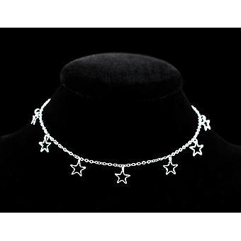 Dutý hvězda a srdce přívěsek, noha nákotník náramek řetěz