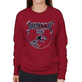 Jurassic Park Chrome Logo Frauen's Sweatshirt