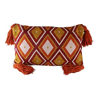 Tasseled Kasbah Design Scatter Cushion, Geometric Pattern