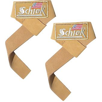 "Schiek Sports Model 1000-LLS 21"" Leather Lifting Straps"