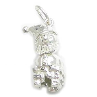 Vader Kerstmis in een schoorsteen Sterling Zilveren Charme .925 X 1 Santa Charms - 4836