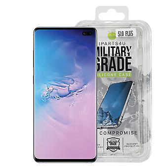 iParts4u Military Grade Silicone Case - Samsung Galaxy S10 Plus - Clear