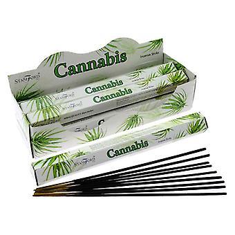 Stamford hex incense sticks - cannabis 6 supplied
