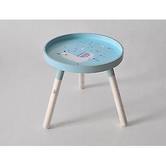 Nordic Style Kids Room Play Desk Moderni pyöreä puinen säilytys sivupöytä lastentarha
