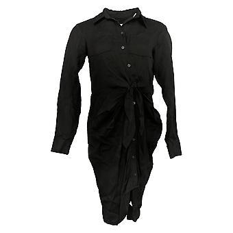 Laurie Felt Dress Tied Front Button Up Blouse Black A305685