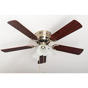 Ceiling fan Kisa Deluxe AB Rosewood / Walnut with lights