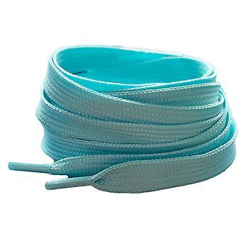 Sininen pastelli litteä kouluttaja kengännauhat nauhat