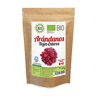 Red Cranberries from Canada Sugar Free Organic 125 g