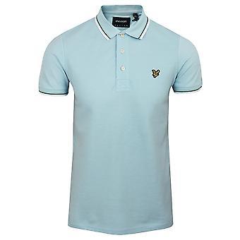 Lyle & scott men's deck blue tipped polo shirt