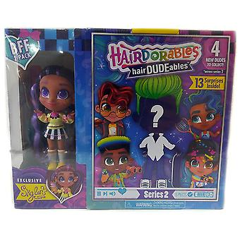 Hairdorables hairdudeables series 2 bff pack (13 surprises) skylar