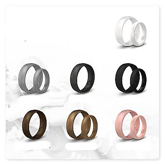 Pearl White Breathable Silicone Ring And Women