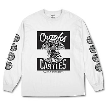 Crooks & Castles Klepto Medusa Long Sleeve Tee White