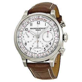 Baume and Mercier Capeland Chronograph White Dial Men's Watch 10082