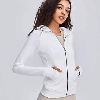 Women's Long Sleeves Full Zip Running Track Jacket, Warmer, Workout Coat, Slim