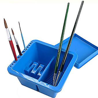 Painting Brush & Washing Bucket, Watercolor Pen Barrel With Pen Holes