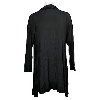 Lisa Rinna Collection Women's Top Knit Tunic W/ Side Slits Black A372096