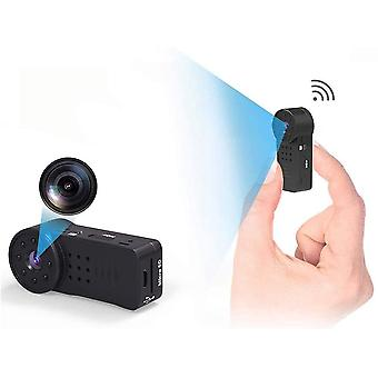 WiFi Full HD 1080P Portable Mini Nanny Cam with Night Vision and Motion Detection Hidden Wireless Spy Camera for Indoor Secret Security Camera (Black)
