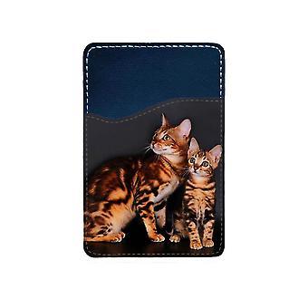 Katter Bengal Självhäftande Korthållare För Mobiltelefon